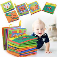 Kid Baby Intelligence Development Cloth Fabric Cognize Book Educational Toy Gift