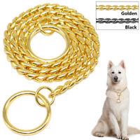 Choke Chain P Choker Training Dog Collars Snake Dog Show Collar Strong Chrome