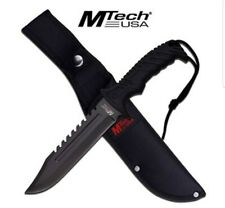 MTECH USA MT-20-57BK Fixed Blade Hunting Knife, Black Blade, Black Rubberized...