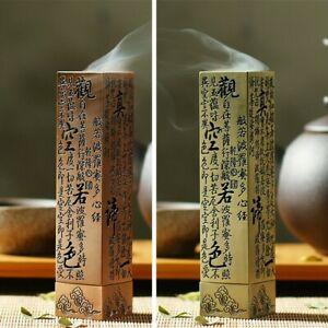 Heart-Sutra Alloy Buddhist Incense Stick Holder Burning Joss Insence Box Burner