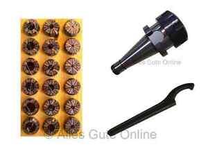 Mandrin Porte Pince SA30 DIN2080 ER32 + Jeu de 18 pinces ER32 HL + Clef H #013