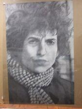 Bob Dylan Large 1960's Vintage Black White Poster Inv#2099