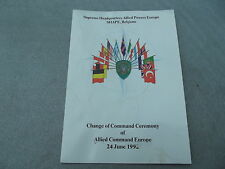 CHANGE OF COMMAND CEREMONY OF ALLIED POWERS EUROPE 24 JUNE 1992