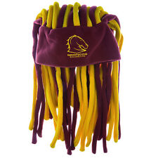 NRL Brisbane Broncos Dreadlock Hat Cap Beanie Game Day Party Christmas Gift