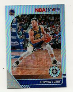 Stephen Curry  2019-20 NBA Hoops Premium Stock  Silver Prizm  Card #59  Warriors