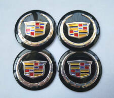 "4x 56mm 2.2"" Auto Car Wheel Center Cap Emblem Decal Sticker for Cadillac Black"