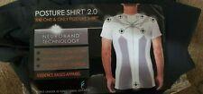 Men's AlignMed Posture Correcting Shirt 2.0 Neuroband Technology Black X-Large