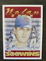 MINT RARE 1990's Nolan Ryan Promo Card 300 Wins 5000ks Baseball Texas Rangers