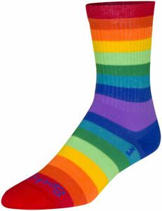 SockGuy Crew Fabulous Socks - 6 inch, Rainbow, Large/X-Large
