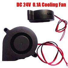 24V DC Radial Turbine Blower 5015 Cooling Fan For 3D Printer 50mm*50mm*15mm New