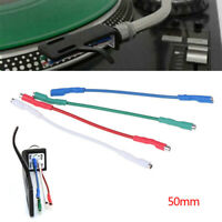 4Pcs 7N headshell wires OFC turntable leads phono cartridge cables replacement