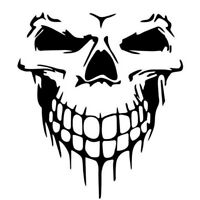 Funny Car Truck Tailgate Black Skull Hood Decal Vinyl Large Graphic Sticker NE8