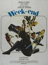 WEEK-END Movie POSTER 27x40 P Mireille Darc Jean Yanne Jean-Pierre Kalfon