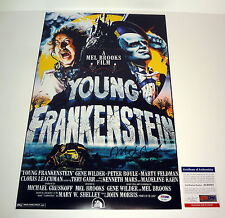 MEL BROOKS SIGNED AUTOGRAPH YOUNG FRANKENSTEIN MOVIE POSTER PSA/DNA COA