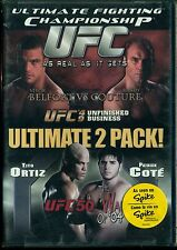 UFC 49 & 50 AS REAL AS IT GETS ULTIMATE 2 PACK RANDY COUTURE TITO ORTIZ DVD NEW
