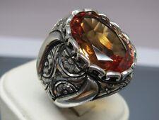 Turkish Handmade Jewelry 925 Sterling Silver Alexandrite Stone Men Ring Sz 10