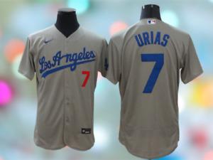 Los Angeles Dodgers #7 julio urias flexBase men  Stitched Jersey world series