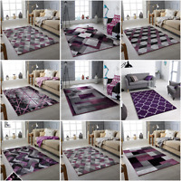 MODERN RUG PURPLE SOFT SMALL EX LARGE LIVING ROOM CARPET CHEAP AERA RUGS