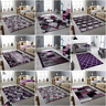 SMALL EX LARGE  RUG SILVER PURPLE SOFT LIVING ROOM BED ROOM CARPET MAT AERA RUGS