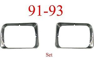 91 93 Dodge 2Pc Head Light Door Set, Ram Truck, Ramcharger, Both Sides Included!