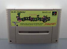 Super Nintendo SNES Famicom juego-lemmings/NTSC-J japón-solo módulo