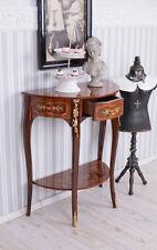 Console De Table Baroque Marqueterie Bois Exotiques Latérale Antique