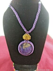 Peruvian amethyst stone necklace and ayahuasca