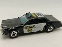 Vintage 1977 Mattel Hot Wheels Black Sheriff #701 Patrol Car Police Car
