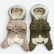 Pet Clothing For Yorkshire Dog Green Coat Jumpsuit Thicken Dogs  Puppy Clothes