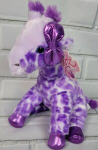 Aurora Giraffe Girlz Nation 12 Inch Plush Purple Shimmer Bow Feet Stuffed Animal