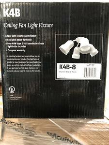 Casablanca Ceiling Fan Spotlight Bullet 4-Light Fixture 160W Matte Black K4B-8