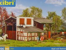Stall mit Viehverladestation - Kibri HO Bausatz 1:87 - 39096 #E