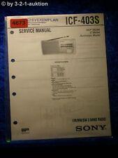 Sony Service Manual ICF 403S 3 Band Radio (#4673)