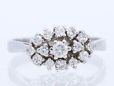 Valor: 1.600,- EUR vintage anillo 0,64 quilates brillante diamantes 585 oro
