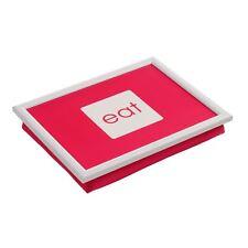 Bandeja de regazo, color de rosa caliente PP/Fabric, Blanco Mdf