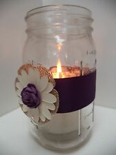 10 Purple Burlap Mason Jar Rustic Centerpiece Wedding Party Decorations J8