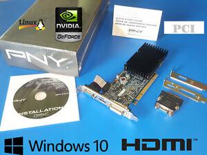 NEW Windows 10 HDMI DVI VGA PCI Video Graphics Card for HP pavilion a1223w