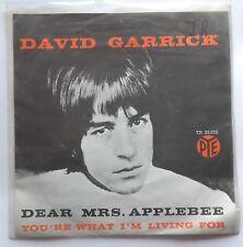 "7"" David Garrick – Dear Mrs. Applebee Holland Ps 1966 Pye Records – 7 N 35335"