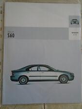 Volvo S60 range brochure Apr 2003