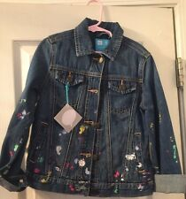 Girls gap Jean Jacket Size Medium Gap Kids  Artist  Applique Denim Jean Jacket