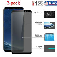 2-pack for Samsung Galaxy S9 S8 Plus Full Cover Tempered Glass Screen Protector