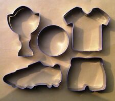 Football Cookie Cutter Sport World Cup Soccer Fondant Baking Biscuit Steel set