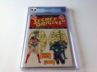 SECRET ORIGINS 3 CGC 9.4 WHITE PAGES WONDER WOMAN WILDCAT NICK CARDY DC COMICS