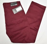$50 NWT Men Akademiks Shady 5-Pocket Stretch Slim Twill Pants Jean Burgundy N435