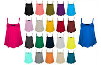 Ladies Womens Girls Stretch Cami Vest Top camisole Straps Size 8 - 24