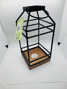 "Smart Living 12"" Geometric Contemporary Lantern NIB"