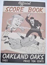 1951--OAKLAND OAKS v. HOLLYWOOD STARS--PROGRAM--XLNT