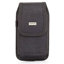 Black Rugged Case Holster Belt Clip Protective Pouch Cover Q3G for Cell Phones