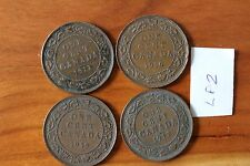 4 Canada Large Cent Coins , Canadian One Cents