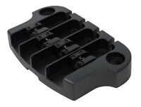 Hipshot SuperTone 3-Point Replacement Bridge for 4-String Gibson Bass - BLACK